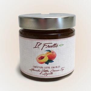 confettura extra di albicocche - vasetto anteriore - il frutto società agricola