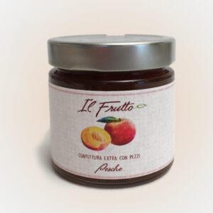 confettura extra di pesche - vasetto frontale - il frutto noceto