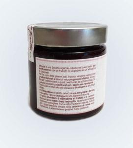 confettura extra di susine viola - vasetto posteriore - il frutto società agricola