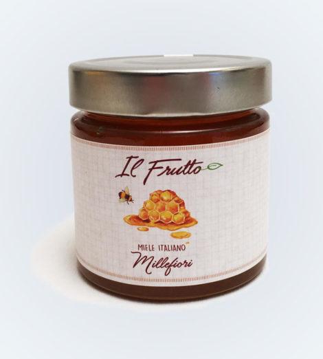 miele millefiori vasetto frontale - azienda agricola Il Frutto